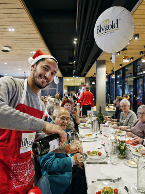 Christmas dinner for elderly